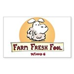Farm Fresh Fool Sticker (Rectangle)