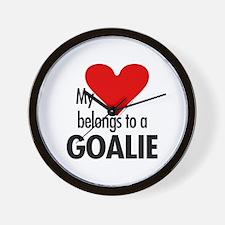 Heart belongs, goalie Wall Clock