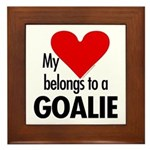 Heart belongs, goalie Framed Tile