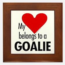 Heart belongs, goalie Framed Tile