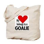 Heart belongs, goalie Tote Bag