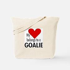 Heart belongs, goalie Tote Bag