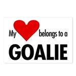 Heart belongs, goalie Postcards (Package of 8)