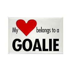 Heart belongs, goalie Rectangle Magnet