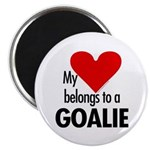 Heart belongs, goalie Magnet