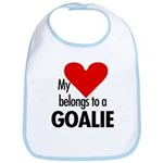 Heart belongs, goalie Bib
