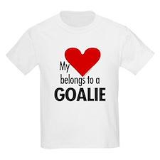 Heart belongs, goalie Kids T-Shirt