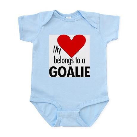 Heart belongs, goalie Infant Creeper