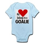 Heart belongs, goalie Infant Creeper