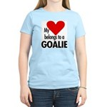 Heart belongs, goalie Women's Pink T-Shirt