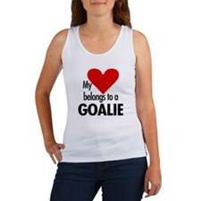 Heart belongs, goalie Women's Tank Top