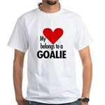 Heart belongs, goalie White T-Shirt
