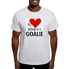 Heart belongs, goalie Ash Grey T-Shirt