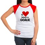 Heart belongs, goalie Women's Cap Sleeve T-Shirt
