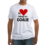 Heart belongs, goalie Fitted T-Shirt