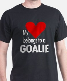 Heart belongs, goalie Black T-Shirt