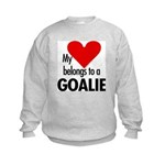 Heart belongs, goalie Kids Sweatshirt