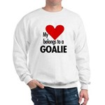 Heart belongs, goalie Sweatshirt