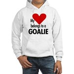 Heart belongs, goalie Hooded Sweatshirt