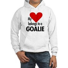 Heart belongs, goalie Hoodie