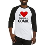 Heart belongs, goalie Baseball Jersey