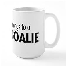 Heart belongs, goalie Coffee Mug