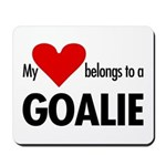 Heart belongs, goalie Mousepad