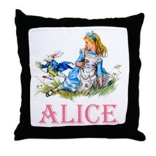 ALICE IN WONDERLAND - PINK Throw Pillow