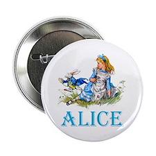"""ALICE IN WONDERLAND - BLUE 2.25"""" Button (10 pack)"""