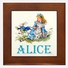 ALICE IN WONDERLAND - BLUE Framed Tile