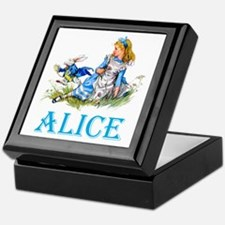 ALICE IN WONDERLAND - BLUE Keepsake Box