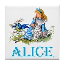 ALICE IN WONDERLAND - BLUE Tile Coaster