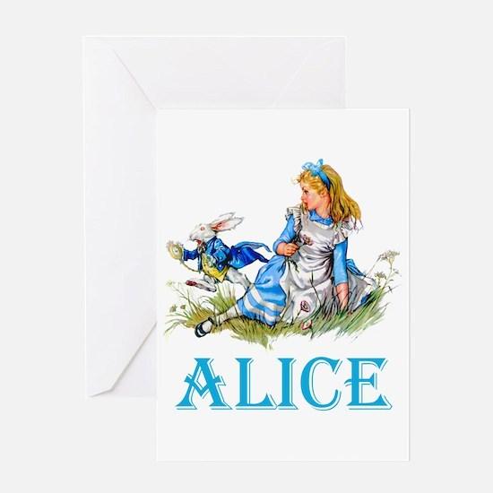 ALICE IN WONDERLAND - BLUE Greeting Card