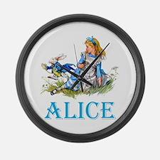 ALICE IN WONDERLAND - BLUE Large Wall Clock