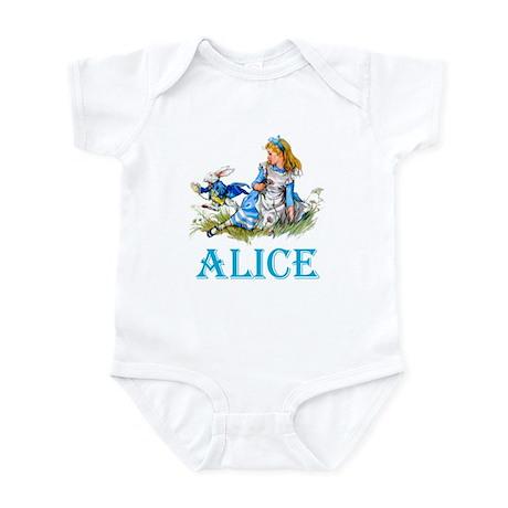 ALICE IN WONDERLAND - BLUE Infant Bodysuit