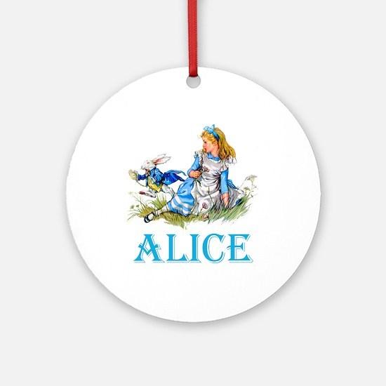 ALICE IN WONDERLAND - BLUE Ornament (Round)
