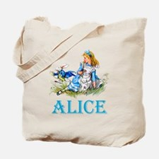 ALICE IN WONDERLAND - BLUE Tote Bag