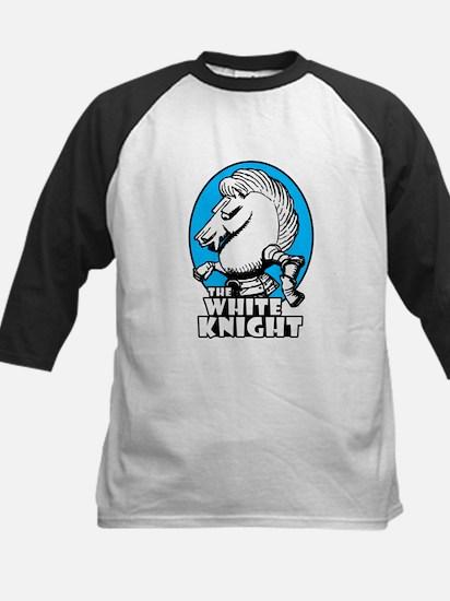 White Knight Logo Sky Blue Kids Baseball Jersey