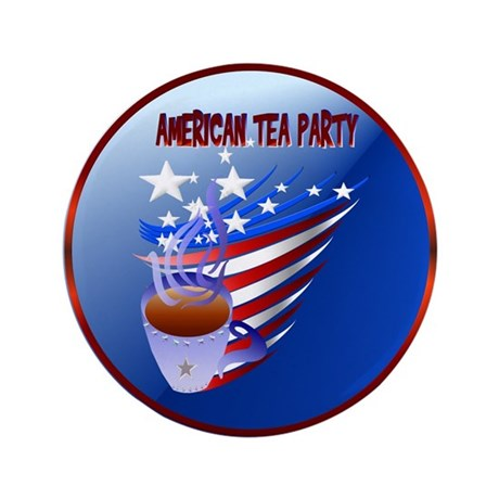 """American Tea Party 3.5"""" Button (100 pack)"""