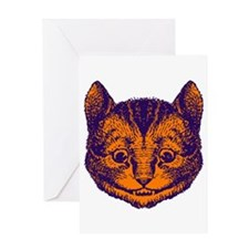 Cheshire Cat in Purple and Or Greeting Card