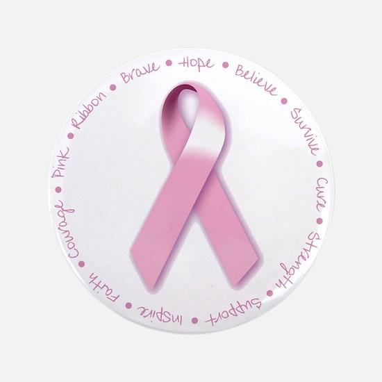 "Cute Breast cancer walk 3.5"" Button"