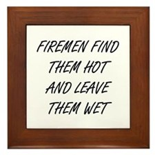 Cute Fireman Framed Tile