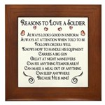 10 Reasons to love a soldier Framed Tile