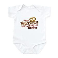 Pretzels Making Me Thirsty Infant Bodysuit