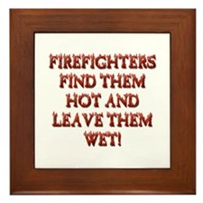 Unique Fireman Framed Tile