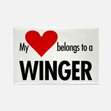 Heart belongs, winger Rectangle Magnet