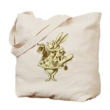 White Rabbit Herald Sepia Tote Bag