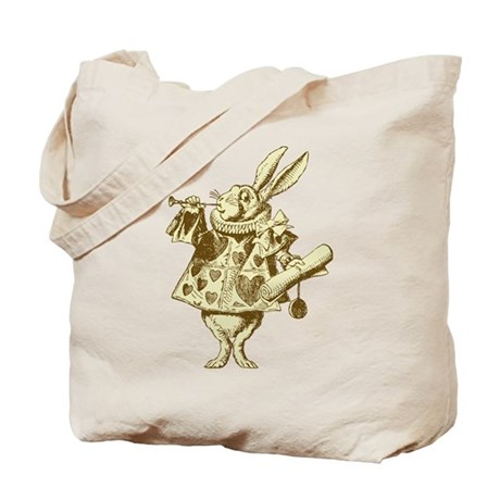 White Rabbit Herald Sepia Tote Bag