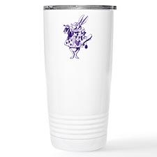 White Rabbit Herald Purple Travel Mug