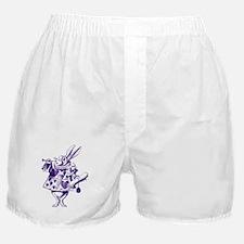 White Rabbit Herald Purple Boxer Shorts